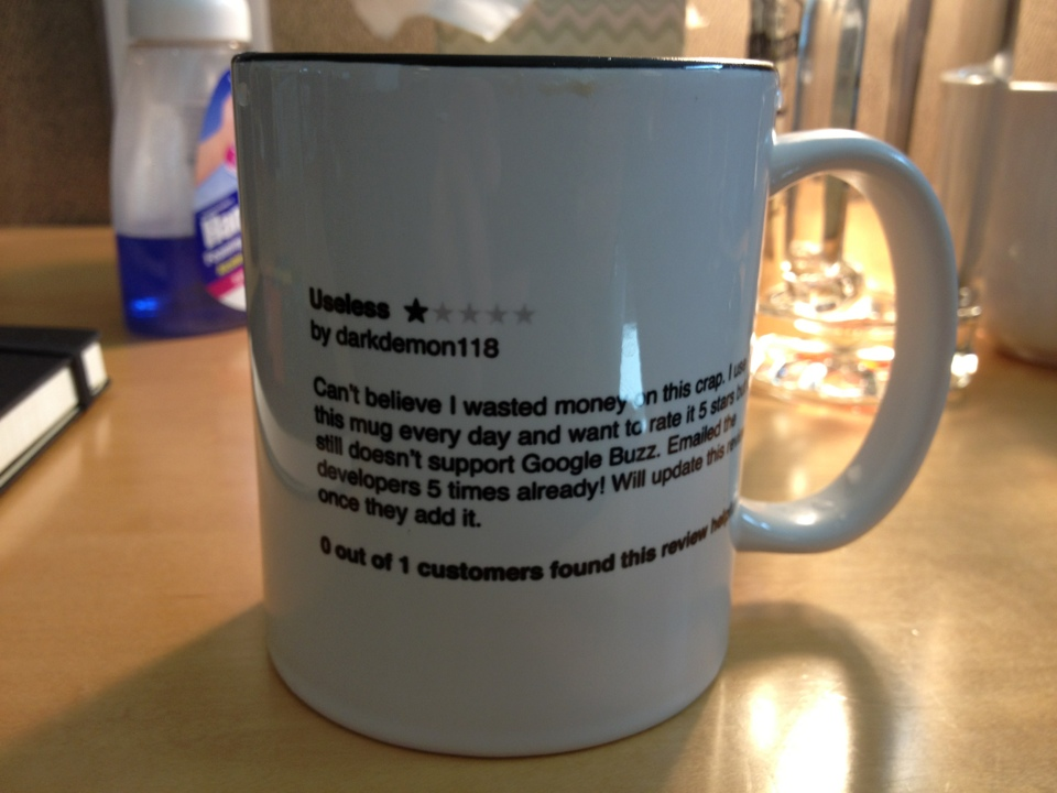 Useless Mug, by Marco Arment