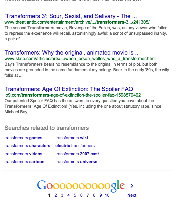 Other Other Transformers SERP