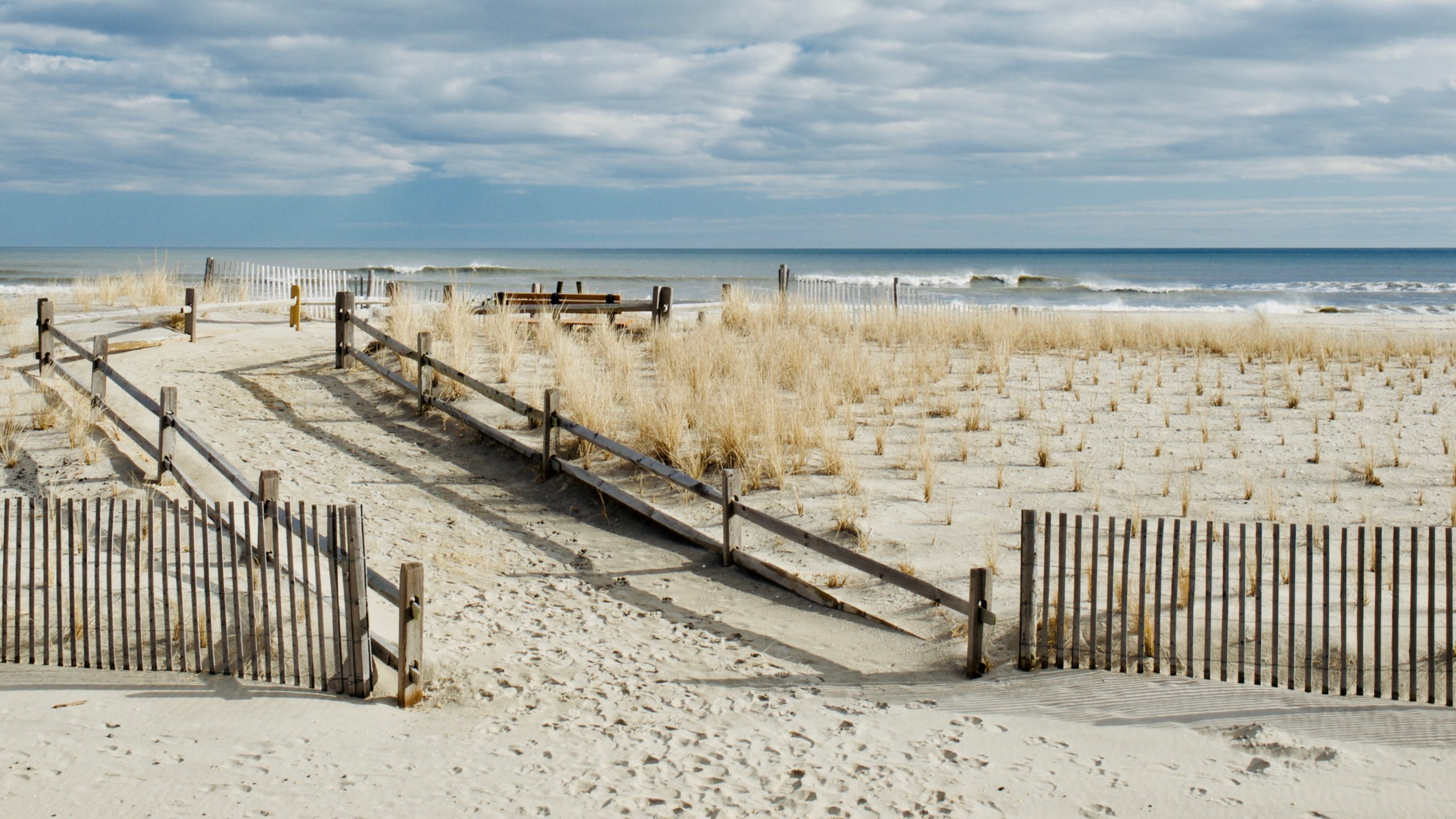 Margate NJ beach in winter